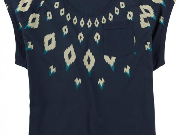 fairisle swag short sleeves indigo