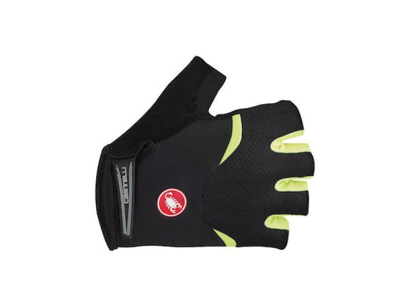 Arenberg gel glove black/yellow fluo