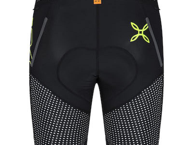 Breccia shorts nero/giallo fluo