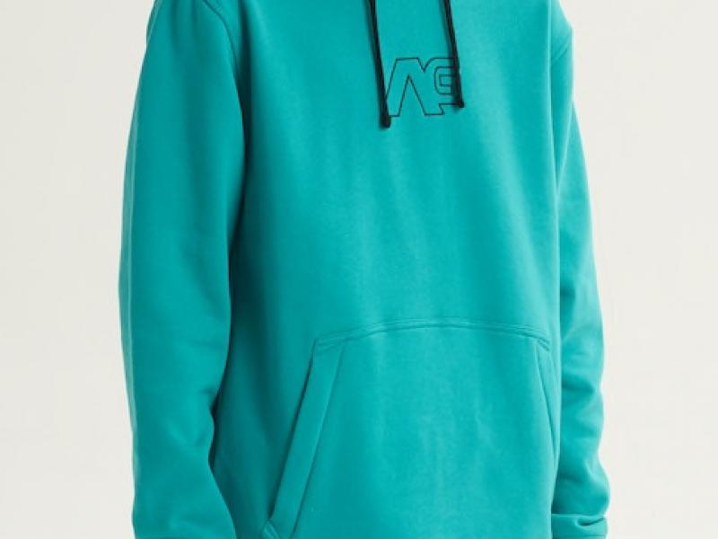 Analog Crux Pullover Hoodie - green-blue slate