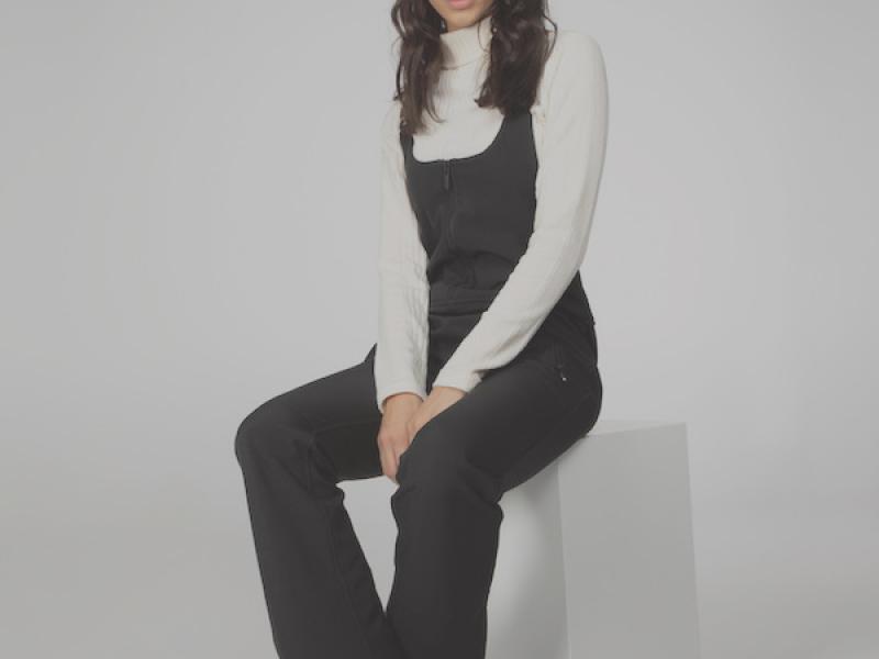 Alana Softshell salopette - true black